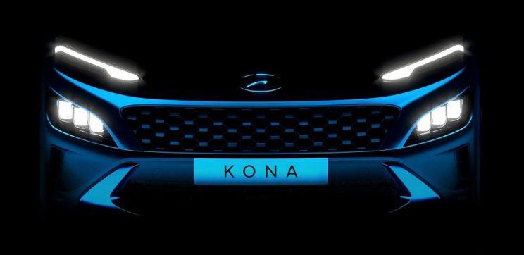 Hyundai starts showing facelift Kona's skin