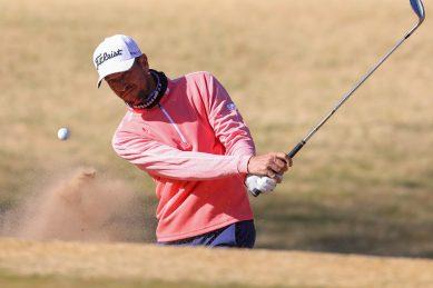 Veteran golfer Haindl takes the lead in Rise Up Series opener