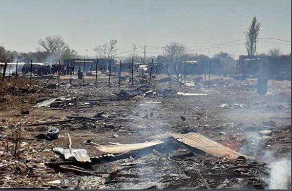 WATCH: Ekurhuleni land grabbers accuse officials of burning their belongings