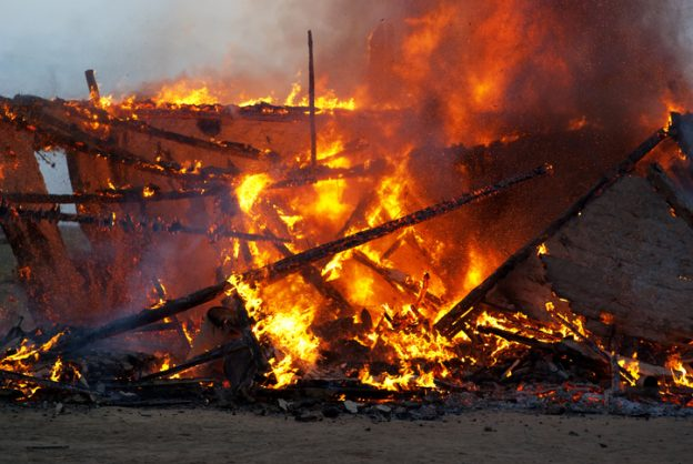 Young mother and two children perish in shack fire