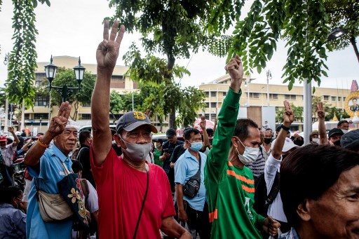 IN PICS: Thai protesters defy monarchy with 'People's Plaque'