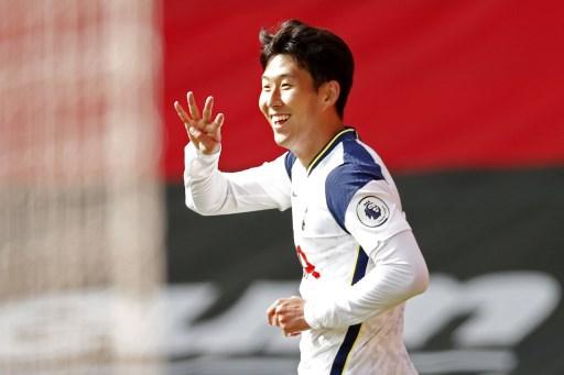 Son hits four goals as five-star Spurs rout Saints