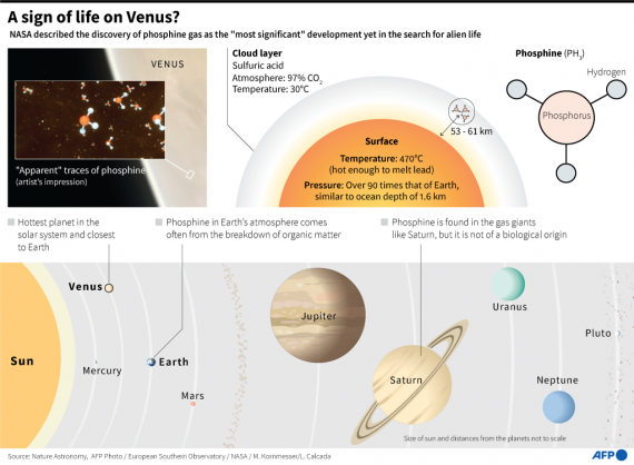 Venus gas 'most significant' find yet in alien life search – NASA chief