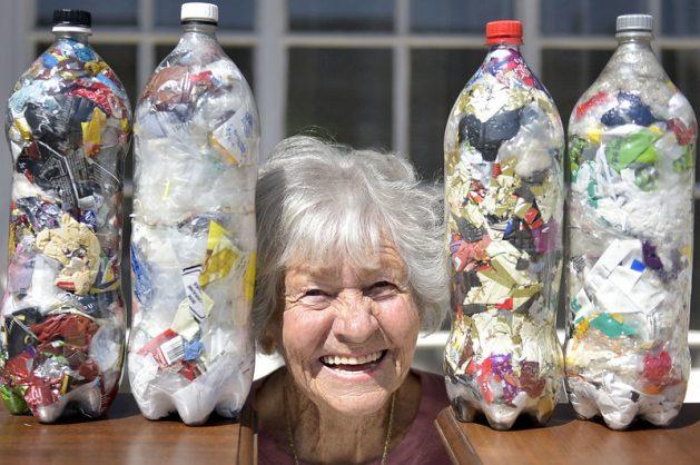 WATCH: Granny turns plastic waste, bottles into ecobricks