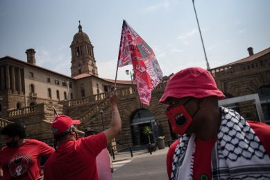 VIDEO: Nehawu protests for immediate wage increase, risk pay