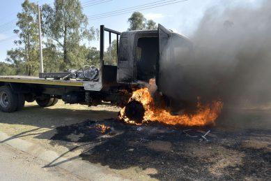 Burning trucks is 'economic sabotage', says economist