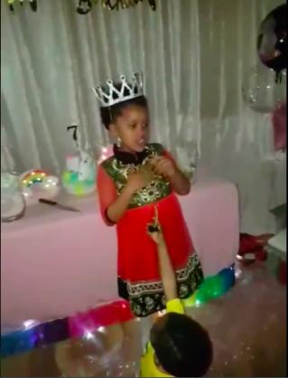WATCH: Touching birthday speech by seven-year-old Mafikeng girl
