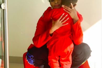 Thembi Seete shares a picture of her son with a sweet message