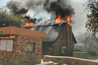 KNP's Berg en Dal rest camp restaurant on fire