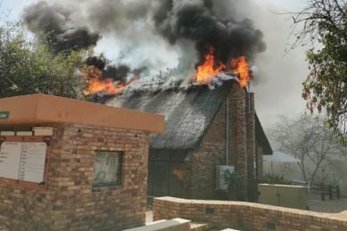 KNP's Berg en Dal rest camp restaurant on fire