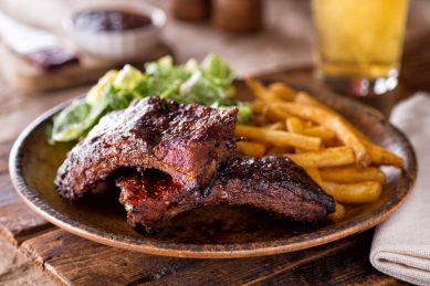 Sticky pork ribs with milk stout marinade recipe