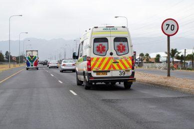 Durban paramedic at accident scene injured as car slams into ambulance