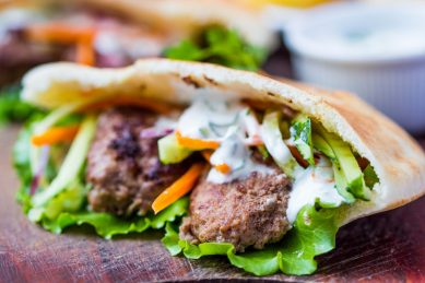 Braaied lamb shawarma with Middle Eastern flavours