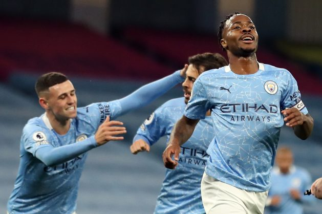 Sterling strike sees Man City hold off Arsenal