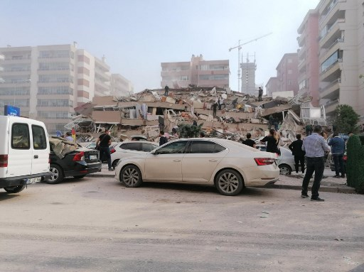 Watch: Buildings collapse as major 7.0 magnitude quake hits western Turkey