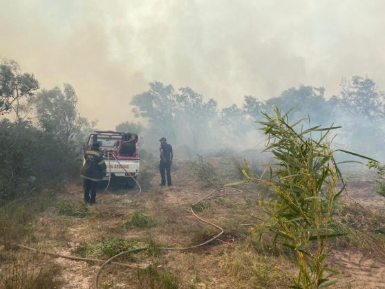 PICS: Fire burning 'out of control' at Gansbaai