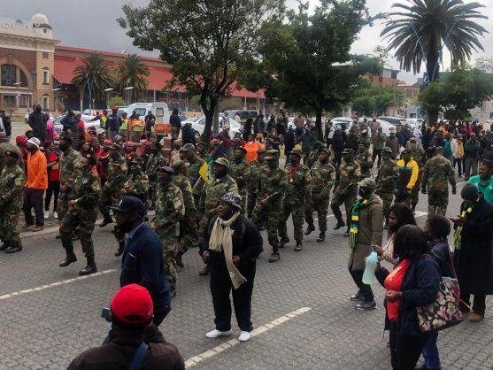 VIDEO: MKMVA members march to Gauteng premier's office to handover a memorandum