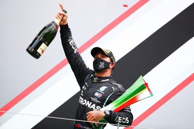 Hamilton breaks Schumacher record with 92nd victory in Portugal