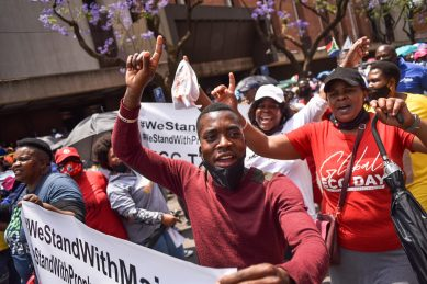 WATCH: Bushiri's supporters congregate outside court for their prophet