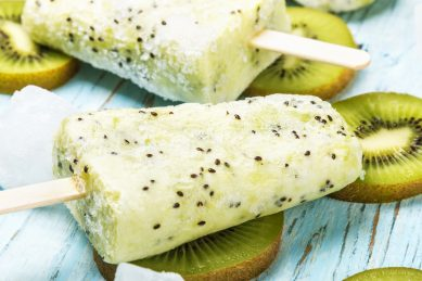 Cool down with this kiwi and banana ice lollies recipe