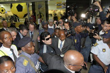 PICS: Diego Maradona's January 2010 visit to South Africa