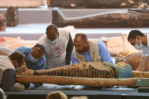 GALLERY: Ancient treasure trove of over 100 sarcophagi discovered