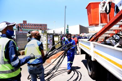 City Power cuts the lights of housing unit, church, butchery, and shops in Joburg