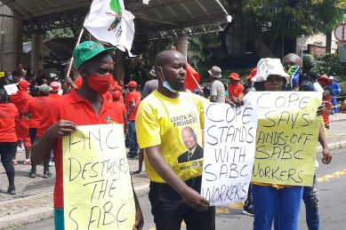 Morale at an 'all-time low' as SABC staff march to Union Buildings
