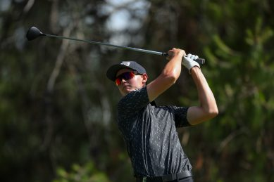 Big-hitting Nienaber in a share of the lead after day one of the Joburg Open
