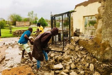 Violent storm destroys homes, leaves families destitute