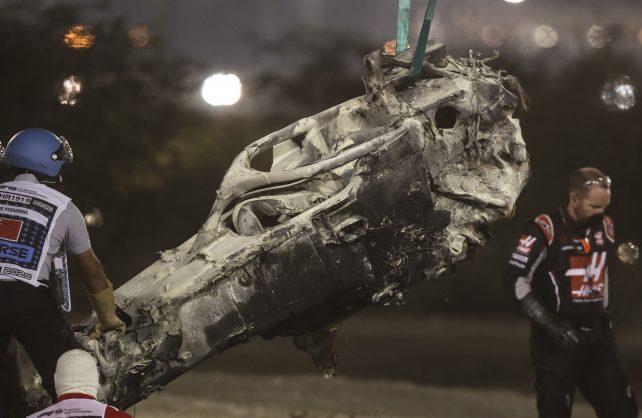 Brad Binder on Grosjean's crash: 'He was so lucky to have walked away'
