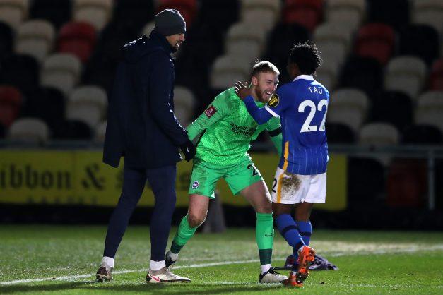 Percy Tau realises Brighton dream in nervy FA Cup win