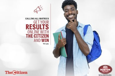 Get your matric results on The Citizen and WIN one of two bursaries worth R35 000 each!