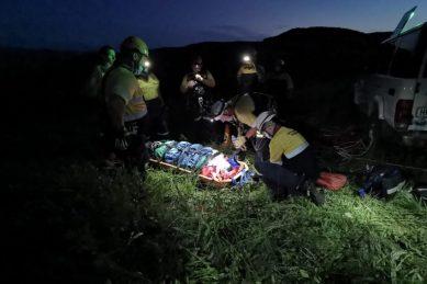 Paraglider rescued after misjudged landing