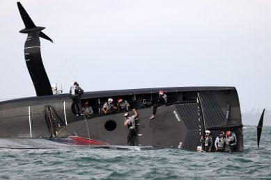 American Magic capsized