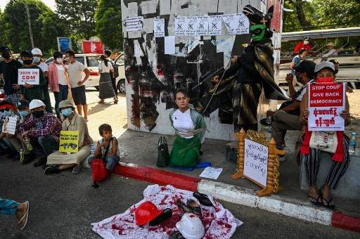 Two people dead in Myanmar anti-coup protest shooting