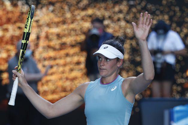 Brady edges into Australian Open final against Osaka