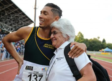 Wayde van Niekerk and Ans Botha