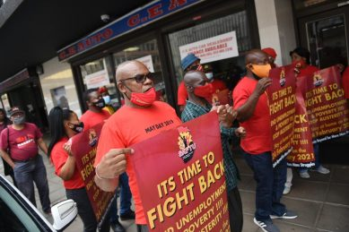 Ahead of Budget Speech, workers take to the streets