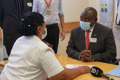 Meet the nurse who vaccinated President Cyril Ramaphosa