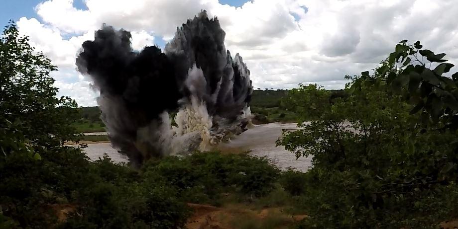 Dam explosion