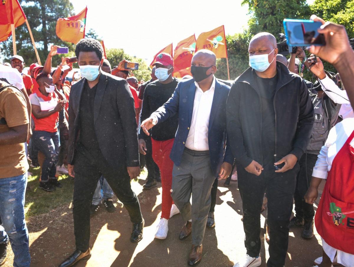 Julius Malema during Mthokozisi Ntumba visit