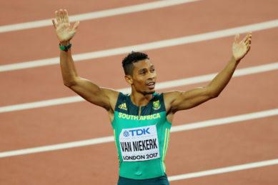 Athlete Wayde van Niekerk