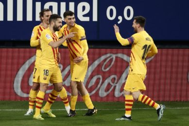 Barcelona raise the stakes in Madrid derby after Osasuna win
