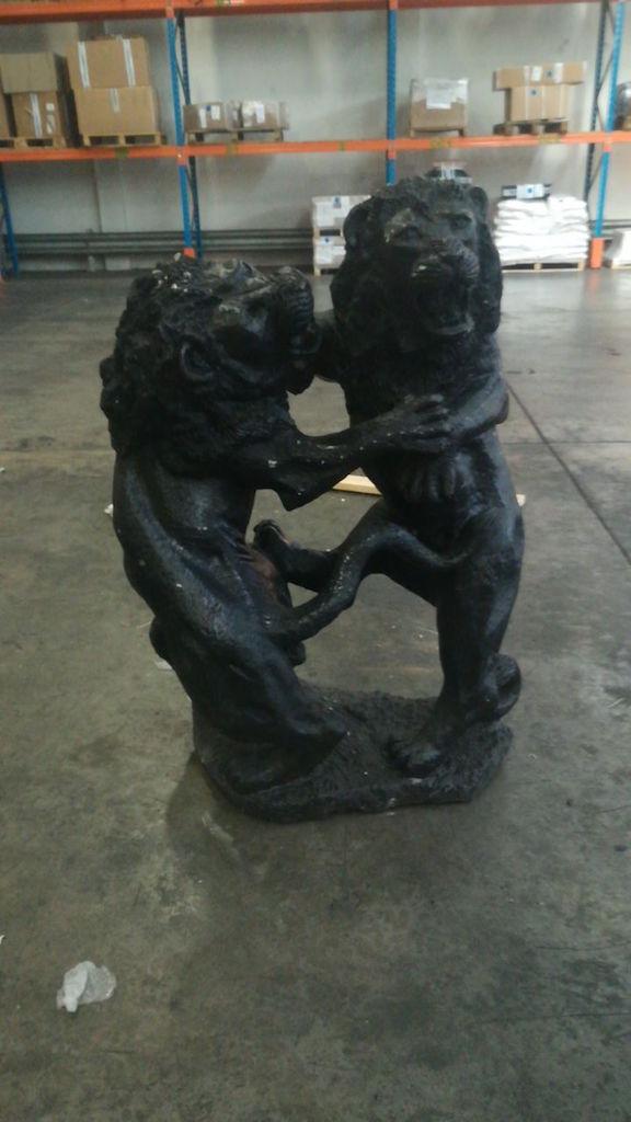File image of black lion sculpture found during drug bust