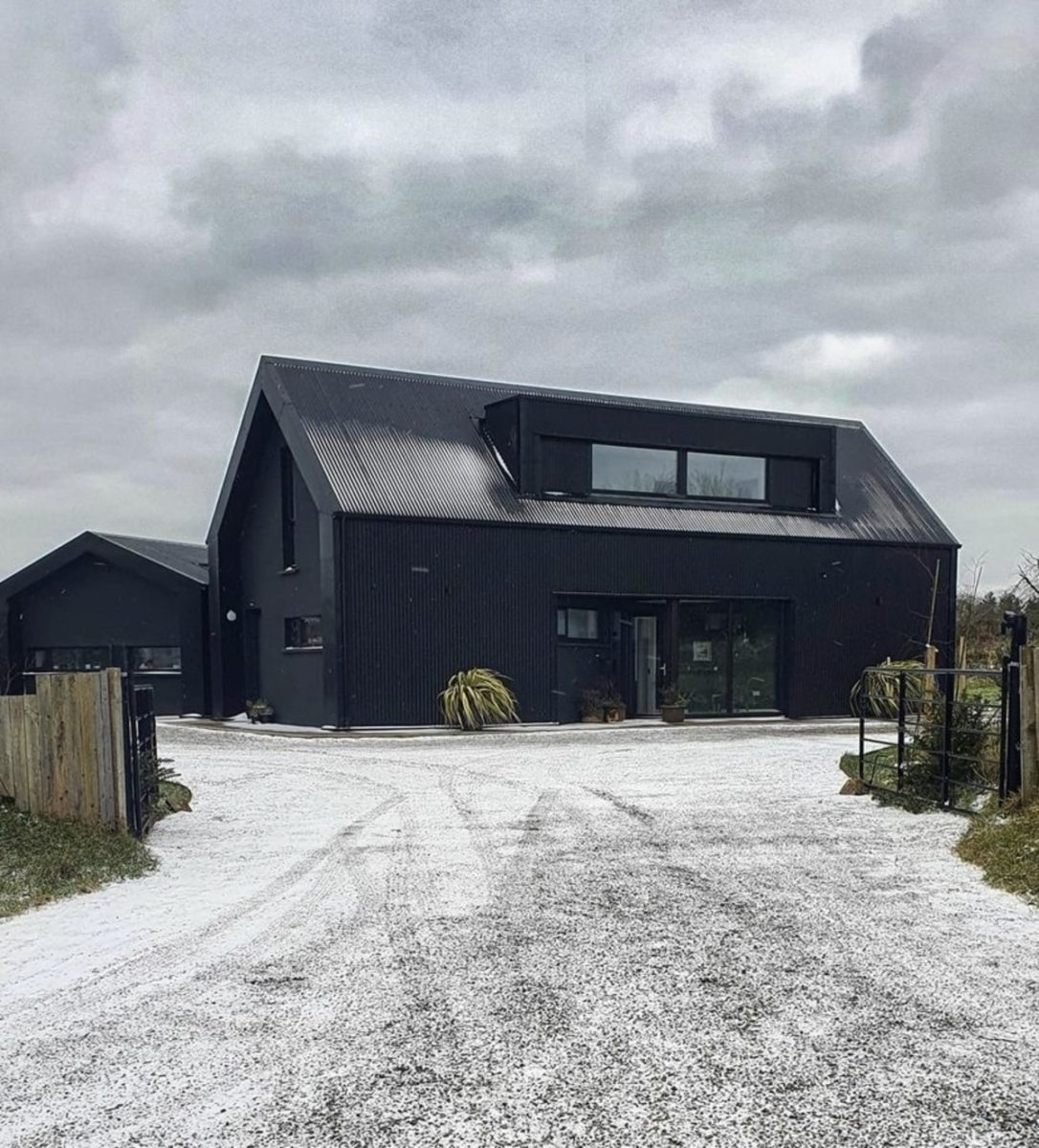 The self-build 'black house' with a piano kitchen island