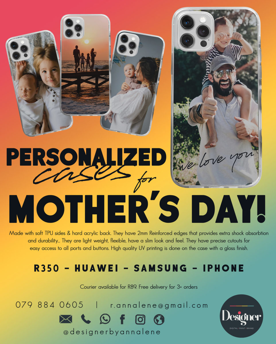 Personalised phone covers for Mother's Day.