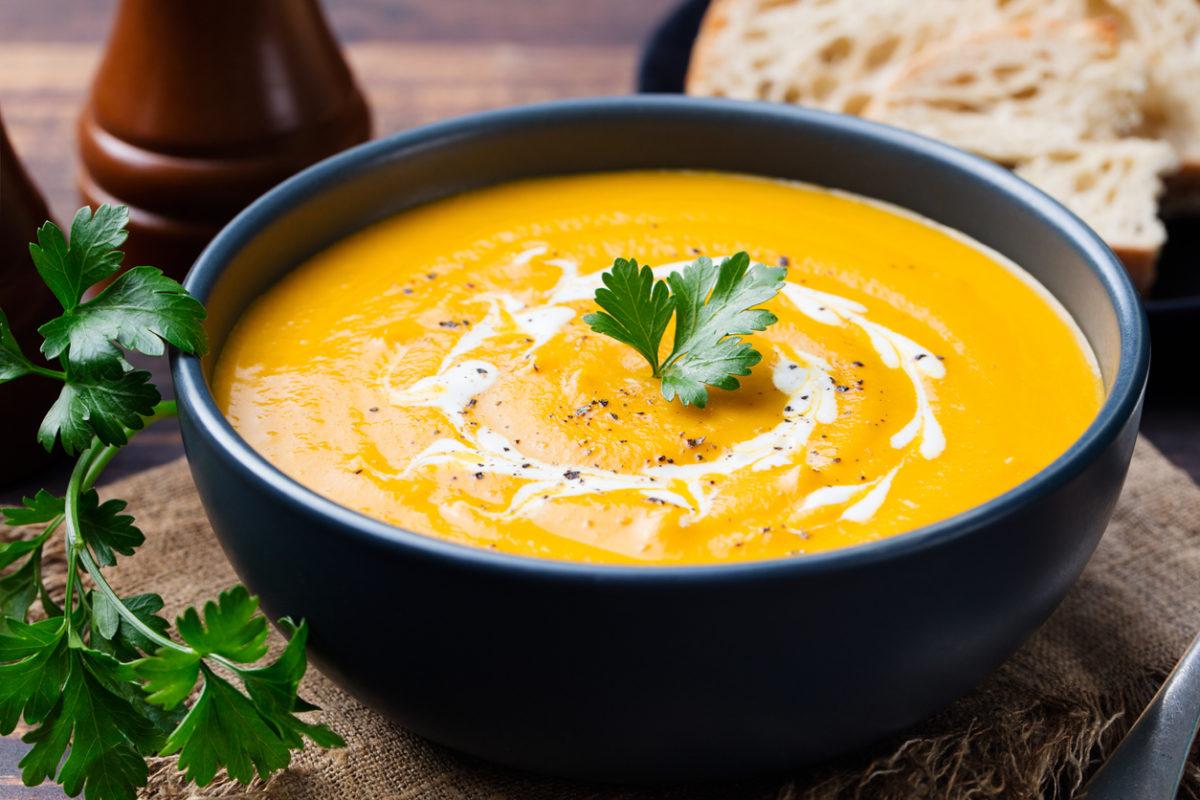 Winter pantry pumpkin soup