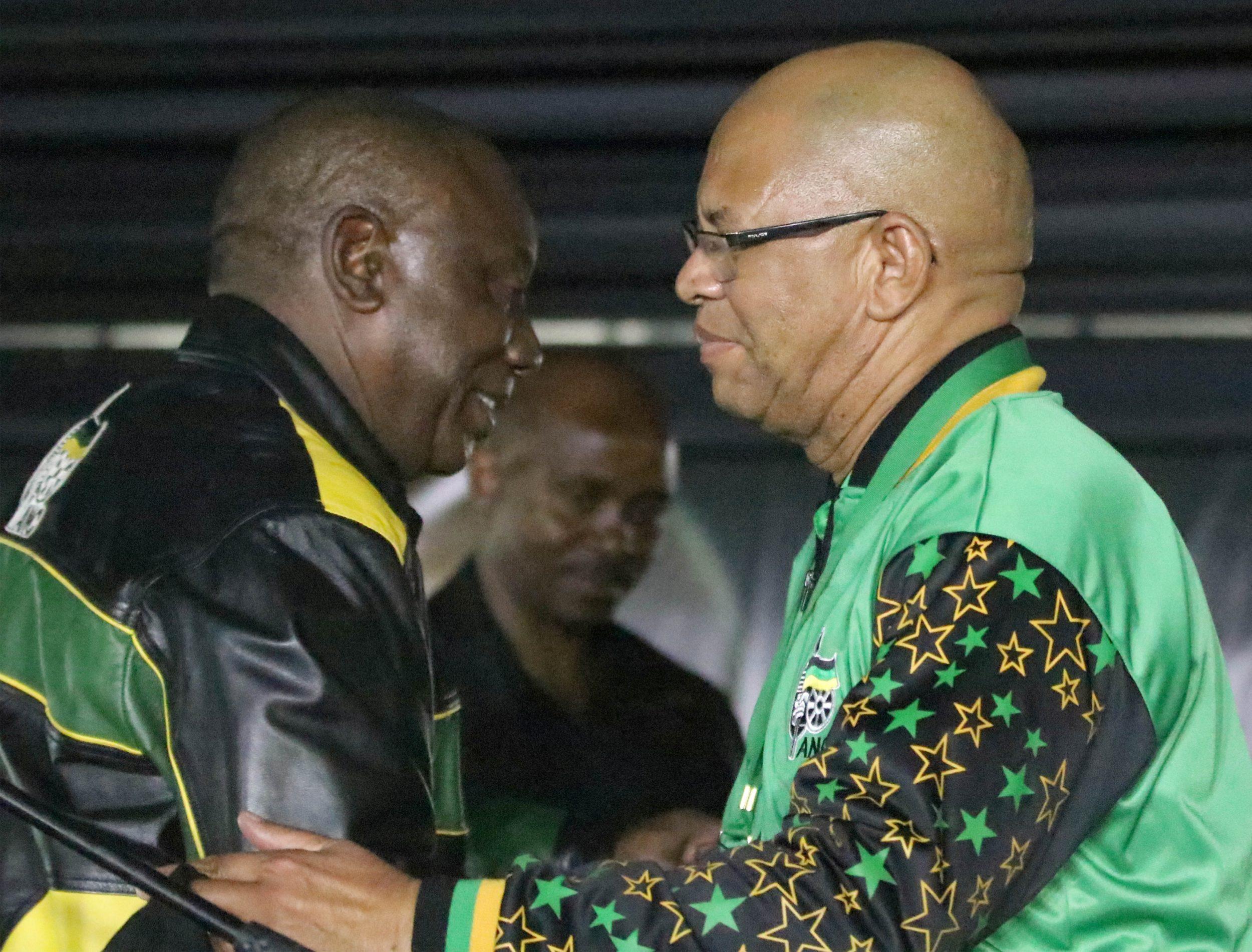 Cyril Ramaphosa and Stan Mathabatha