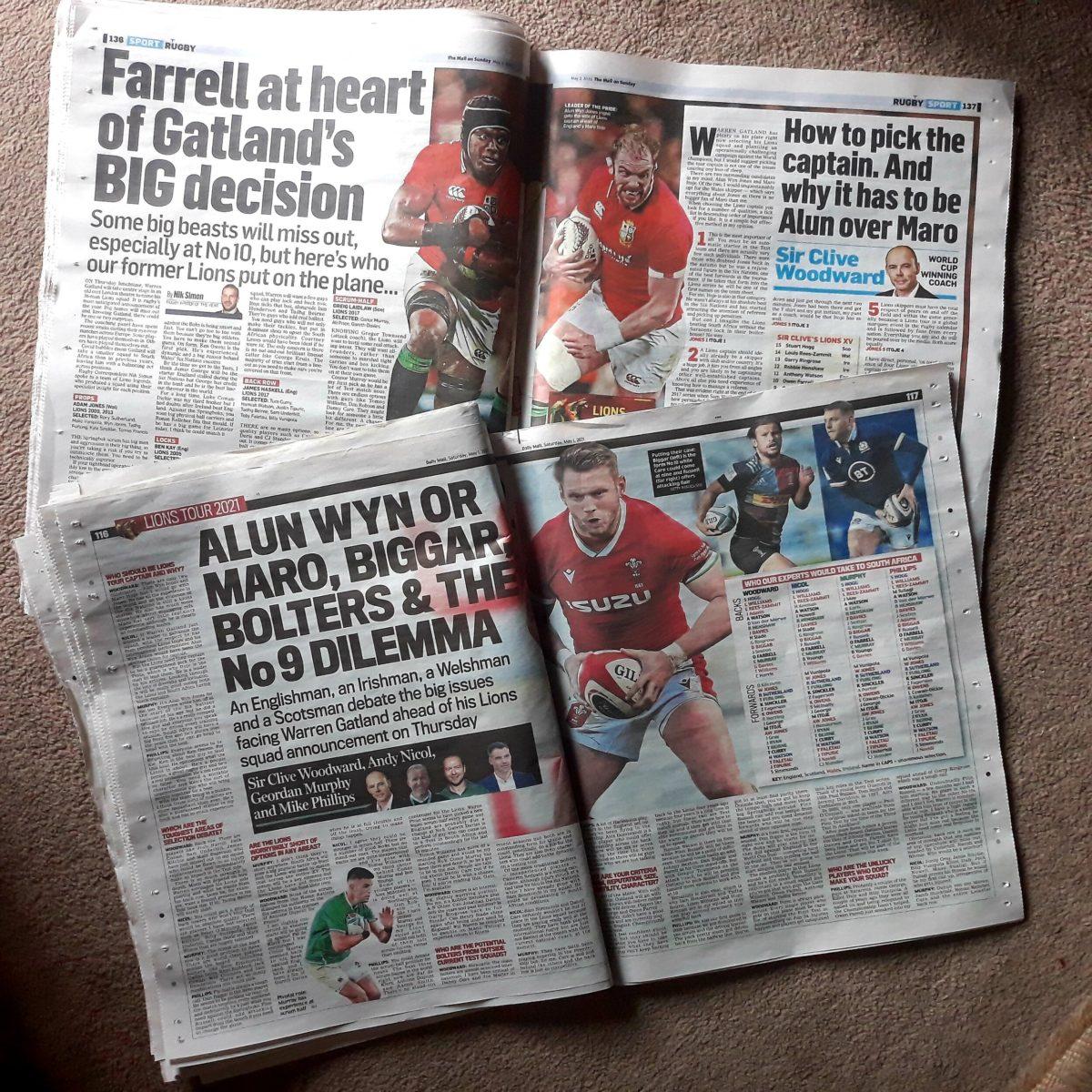 British press on Lions tour